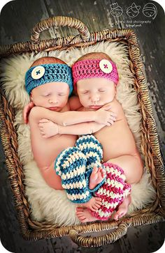 Newborn Photo Prop Girl Twins Leg Warmer and by MitziKnitz on Etsy, $26.00