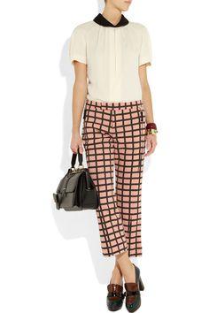 Marni|Printed wool-blend pants|NET-A-PORTER.COM