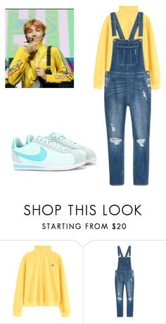 """BTS Namjoon GoGo inspired outfit"" by melaniecrybabyz on Polyvore featuring NIKE"
