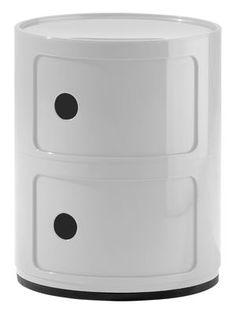 Rangement Componibili / 2 tiroirs - H 40 cm Blanc - Kartell - Décoration et mobilier design avec Made in Design