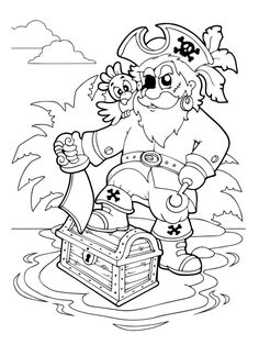 Pirate Coloring Pages Free Printable Beautiful Free Pirate Treasure Chest Coloring Page for Kids Pirate Coloring Pages, Mermaid Coloring Pages, Colouring Pages, Printable Coloring Pages, Coloring Pages For Kids, Coloring Sheets, Coloring Books, Pirate Birthday, Pirate Theme