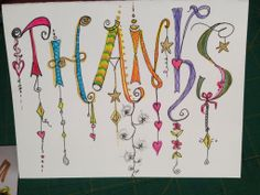 Inspired by images on Pinterest and zentangle website. Hand Lettering Alphabet, Doodle Lettering, Creative Lettering, Lettering Styles, Calligraphy Letters, Word Doodles, Doodles Zentangles, Zentangle Patterns, Letter Art