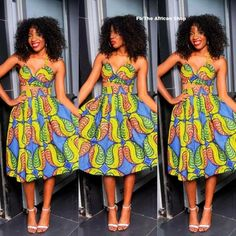 The African Shop - Chicamod Ghanaian Fashion, African Fashion Dresses, Fashion Outfits, African Clothes, Nigerian Fashion, Ankara Fashion, African Attire, African Wear, African Shop