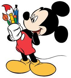 Mickey with supplies