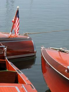 Classic mahogany and wooden boats