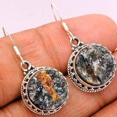 Astrophyllite 925 Sterling Silver Earrings Jewelry ASTE118 - JJDesignerJewelry