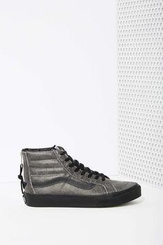 Vans Sk8-Hi Sneaker - Black Crackle Suede Suede Flats 63f08cfbc