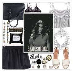 """""""SheIn Shorts ♥"""" by av-anul ❤ liked on Polyvore featuring Yves Saint Laurent, MANGO, Bobbi Brown Cosmetics, Gucci, Garance Doré, Inglot, shein and avanul"""