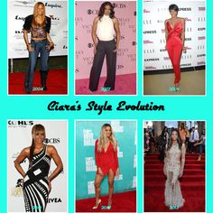 """Ciara's Style Evolution since her first studio album """"Goodies"""" in 2004. Ciara Style, Evolution, Celebrity Style, Goodies, Sweet Like Candy, Good Stocking Stuffers, Sweets"""