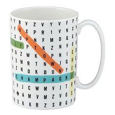 say the word wordsearch mug