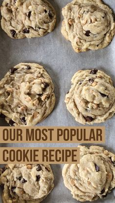 Cakes Puddings Trifles Cobblers etc. Note: Pies Cupcakes Cookies Bars & Candy posted on separate boards Best Cookie Recipe Ever, Popular Cookie Recipe, Best Cookie Recipes, Sweet Recipes, Home Made Cookies Recipe, Favorite Cookie Recipe, Peanut Butter Chip Cookies, Nutter Butter, Salted Butter