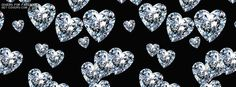 Heart Diamonds - Facebook Covers from Get-Covers.com