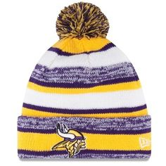 Mens Minnesota Vikings New Era Gold On-Field Sport Sideline Cuffed Knit Hat