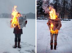 Burning News by Tim Parchikov