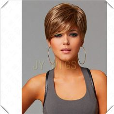 Ombre Short Wig Women Heat Resistant Golden Brown Black Straight Cosplay Wigs Ombre Short Wig