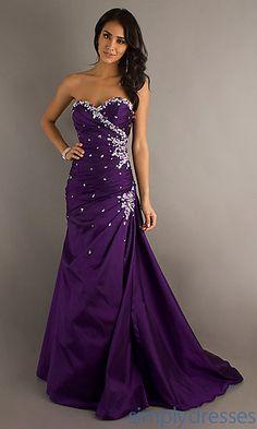 Floor Length Strapless Mori Lee Dress at PromGirl.com