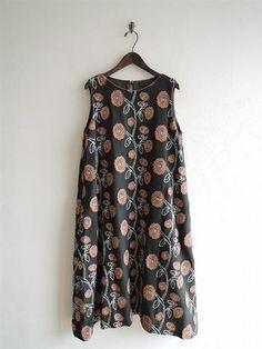 ミナペルホネン mina perhonen giardino 刺繍ノースリワンピース