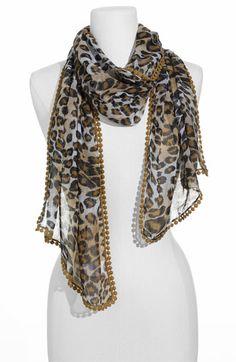 Nordstrom Echo Cheetah Print Scarf $38