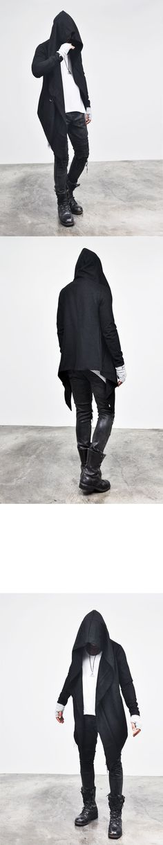 Outerwear :: Coats :: Re)Avant-garde Diabolic Gothicesque Cloak Cape-Coat 21 - Mens Fashion Clothing For An Attractive Guy Look