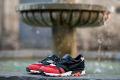 LimitEDitions x Diadora N9000 'Correfocs' (Release) - Sneakers Magazine Saucony Shadow, Lace Bag, Cotton Bandanas, Sneaker Magazine, Shoe Organizer, Custom Boxes, Me Too Shoes, Barcelona, Two By Two