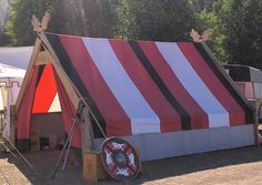 Viking Tent Design Make something like this to cover my old canvas tent frame Family Camping, Tent Camping, Camping Hacks, Outdoor Camping, Glamping, Camping Outdoors, Camping Lanterns, Viking Tent, Viking Camp