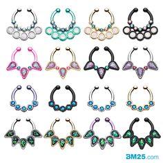 All New Opal Fake Septum Jewelry @ BM25.com Piercing Ring, Body Piercings, Piercing Ideas, Piercing Tattoo, Septum Jewelry, Body Jewelry, Jewelry Art, Fake Nose, Nilla