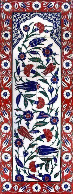 -Must be Turkish tiles (those tulips and design), right Rebecca Marsh? Turkish Design, Turkish Art, Turkish Tiles, Islamic Patterns, Tile Patterns, Textures Patterns, Islamic Tiles, Islamic Art, Tile Murals