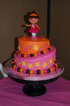 Dora birthday cake By jnczmom on CakeCentral.com