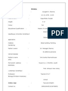 Biodata Format for Marriage 1 Resume Format Free Download, Biodata Format Download, Sample Resume Format, Cv Format, Marriage Biodata Format, Bio Data For Marriage, Download Free Movies Online, Information And Communications Technology, Medical College