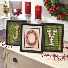 Create Traditional Framed Paper Christmas decor with this project idea