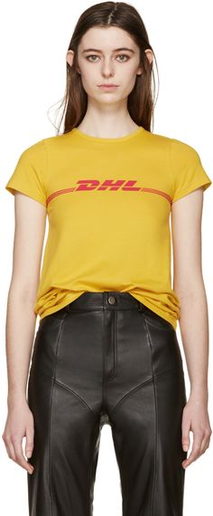 Vetements - Yellow DHL T-Shirt