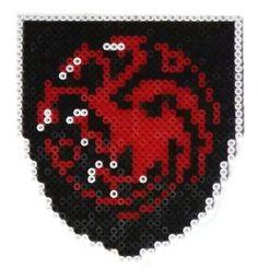Game of Thrones: Targaryen shield perler beads by Garrosa on deviantART
