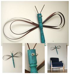 Blue Velvet Chair: Butterflies and Dragonflies - DIY Tutorial