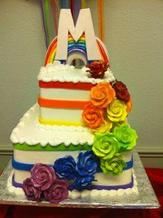 Mackenzie's Rainbow Inspired Arts & Crafts Party
