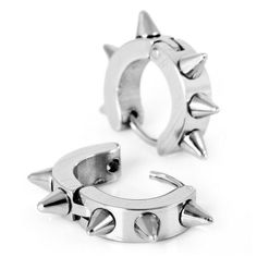 Justeel Jewelry Stainless Steel Stud Earrings Silver Spike Punk Justeel Jewelry. $4.99. Size HxWxL: x0.2x0.3inch; (x4x8mm). Shipping takes 2-3 weeks from China (USPS Tracking). 100% Nickel free. Excellent Luster and Unimpeachable Rust and Corruption Resistance