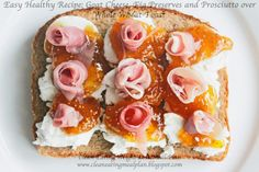 Good Breakfast for Clean Eating and Weight Loss: Goat Cheese, Fig Preserves and Prosciutto #weightlossusa