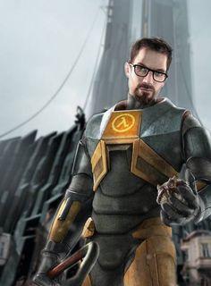Mmm.... Gordon Freeman. Ultimate badass in-game nerd. And sexy. #HalfLife