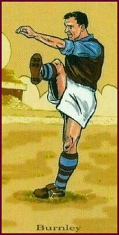 Burnley card showing the kit in 1951.