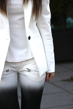 Black & white Pierre Balmain jeans