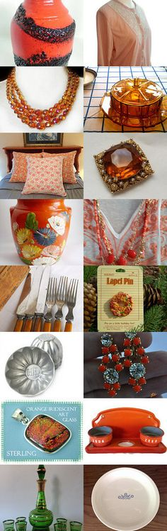 Pumpkin Pie - The Main Course and - Shop Tour - Strawberryfvintage by Char Farber on Etsy--Pinned with TreasuryPin.com