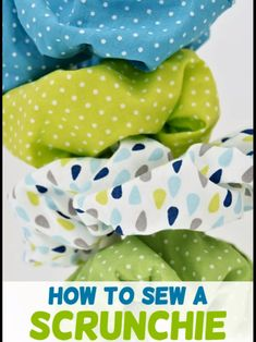 hair scrunchie These diy scrunchies will turn out super cute! See how to make scrunchies - in minutes! Sewing Hacks, Sewing Tutorials, Sewing Crafts, Sewing Tips, Dress Tutorials, Sewing For Kids, Free Sewing, Sewing Kids Clothes, Baby Sewing