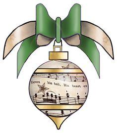 artbyjean clipart christmas | set 003 vintage sheet music free clipart biege tan holiday christmas