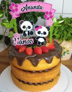 50 Ideias para Festa Panda Panda Birthday Cake, Bolo Panda, Panda Baby Showers, Panda Cakes, Birthday Parties, Babyshower, Desserts, Teacher, Food