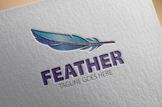 Check out Feather Logo by samedia on Creative Market