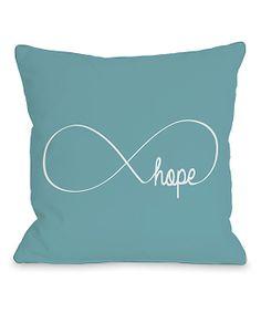 Blue Infinite 'Hope' Throw Pillow