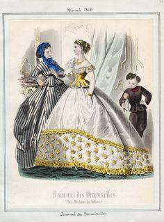March fashions, 1866 France, Journal des Demoiselles