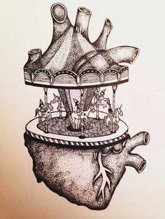 Drawing Heart Anatomy Tattoos Ideas For 2019 Art Drawings Sketches, Tattoo Drawings, Heart Drawings, Heart Anatomy Tattoo, Heart Anatomy Drawing, Brain Drawing, Human Anatomy Art, Heart Art, Greys Anatomy