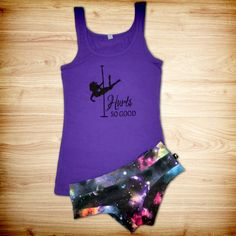 Intergalactic Hot Pants by Cleo The Hurricane ... NOW AVAILABLE at Aerialist Boutique! ON SALE for only $22.95! Looks amazing when paired with our Hurts So Good pole dance fitness tank top!
