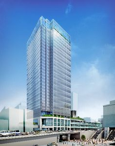 JR新宿駅新南口につくる高層ビルの完成イメージ