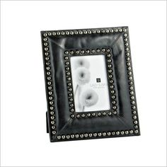 Gunmetal Leather Photo Frame LS Style